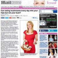 Mushroom diet in the media