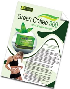Leptins 800 packet of green coffee