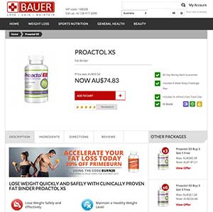 Proactol XS Bauer Nutrition Australia
